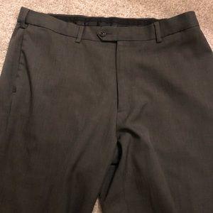Men's Savane Gray Dress Pants. Size 36/30